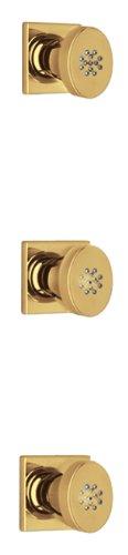 La Toscana 89OK721 Lady Three-Piece Thermostatic Shower Body Spray, Satin Gold by La Toscana