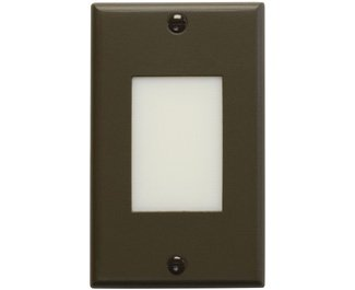 Kichler 12604AZ Step and Hall 120V LED Step Light Lens, Architectural Bronze