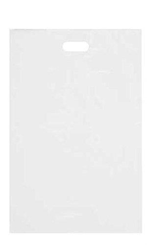 Count of 1000 Large White High-Density Plastic Merchandise Bag 15'' x 4'' x 24''