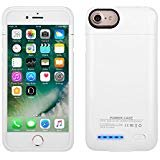 Battery Case for iPhone 8/7/6S, Mbuynow 3000mAH Portable Charging Case for iPhone 8/7/6S (4.7 inch) External Rechargeable Charger Case Protective Power Charger(White)