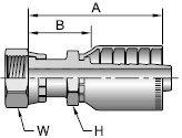 Parker 1JS78-16-16 Adapter Long Swivel 1 IN Seal-Lok X 1 IN Hose Steel