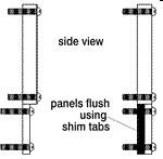 Middle Atlantic ST1MP Shim Tabs, 1 Space (Pack of 100)