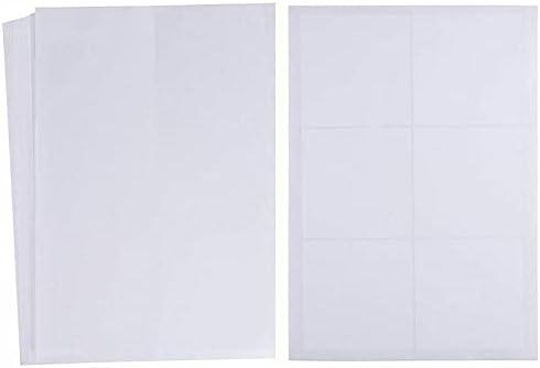 288 Pcs, White Label Sticker Square Name Tags Party Bag Gift Printer Friendly