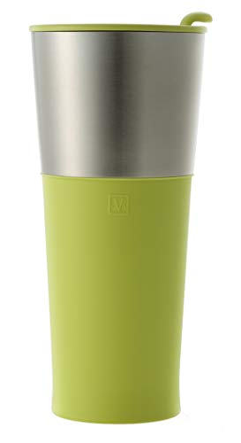 JVR Stainless Steel Insulated Basic Tumbler | 16-oz Double Wall Vacuum Insulated Travel Mug for Tea, Coffee, Beer | Reusable Coffee Mug with Lid | Sweat Proof Water, Tea, Coffee Thermos Bottle - Lime