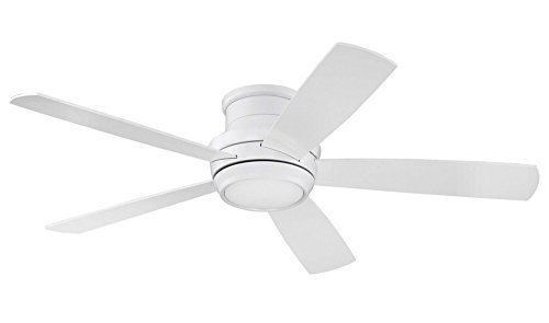 White Ceiling Fan With Led Light - 7