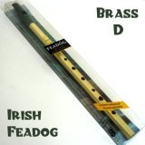 Feadog Brass Feadog D Note Irish Tin Penny Whistle Pack New
