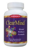 Clear-Mind Superior Mental Support Formula by ''AMERIDEN INTERNATIONAL, INC'' by AMERIDEN INTERNATIONAL, INC