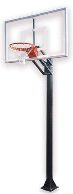 最初チームChamp select-bp steel-acrylic in ground調整可能バスケットボールsystem44、スカーレット B01HC0E5HO