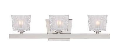 Satin Platinum Volare 3 Light Reversible ADA Compliant Bathroom Vanity Light