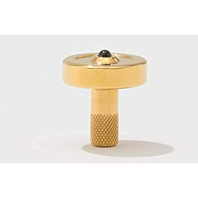 Bruce Charles Designs Schulte Brass Metal Spinning Top | EDC Desk Toys for Office for Adults and Kids | Long Spin Times (Brass): Toys & Games