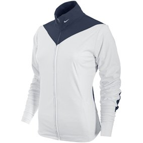 Nike Golf Women's Sport Tech Cover Up (White/Midnight Navy, Large)