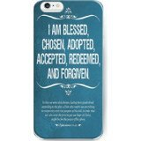 img - for UKASE Hard Back Cover Cases for 2015 iPhone 6S Plus (5.5 inch) with Bible Quotes I Am Blessed, Chosen, Adopted, Accepted, Redeemed, and Forgiven book / textbook / text book