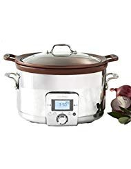 All-Clad 5 Qt Gourmet Slow Cooker with All-in-One Browning ...