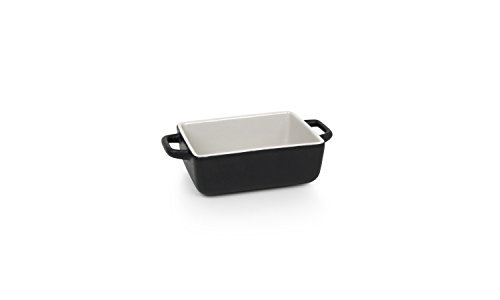 "Front of the House DBO137BKC23 Kiln Rectangle Ovenware Dish, 2.25"" Height, 4.25"" width, 7.75"" Length, 16 oz., Porcelain (Pack of 12)"