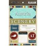Scrapbook Customs - World Collection - Austria - Cardstock Stickers - Exploring