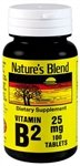 Nature's Blend Vitamin B-2 25 mg 100 Tablets