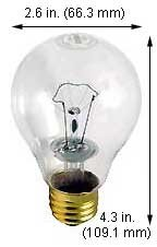 Incandescent Light Bulbs 116A21TS 130V Clear 2.43'' LCL (Case of 120)