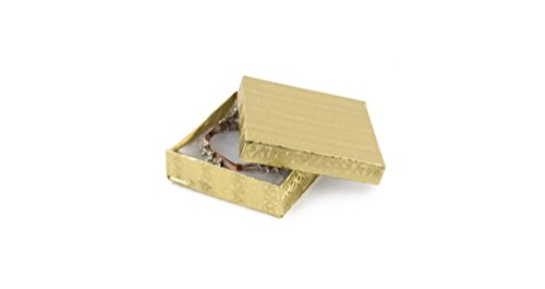 (Eurotech Cotton Filled Gold Foil Jewelry Boxes #4 3 1/2
