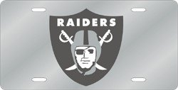 Oakland Raiders Laser Cut Silver License - Laser Oakland Raiders Silver