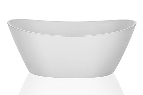 Empava 67'' Luxury Freestanding Acrylic Soaking SPA Tub Modern Stand Alone Bathtubs with Custom Contemporary Design EMPV-FT1518 by Empava (Image #4)