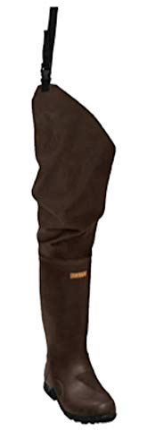 Frogg Toggs Bogg Togg 2-ply Poly/Rubber Bootfoot Hip Wader, Cleated Outsole