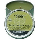 Bergamot & Lime Aromatherapy Candle- Made with 100% pure essential oils - 3oz tin