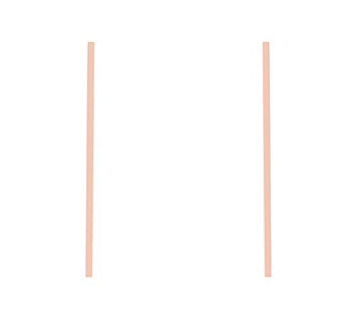 J Goodin Carolee Rose Gold Stainless Steel Long Line Drop Earrings