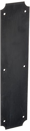 Baldwin 2275 3-1/2 Inch x 15 Inch Solid Brass Scalloped Push Plate, Oil Rubbed Bronze ()