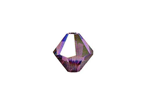 Swarovski Crystal, 5328 Bicone Beads 3mm, Amethyst AB, Wholesale Packs | Pack of 100 ()