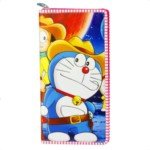Cute Cartoon Style Soft Leatherette Long Purse for Girls-Doraemon