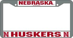 Huskers Chrome License Plate Frame (Nebraska Huskers Chrome License Plate Frame)