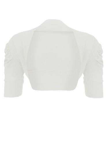 Taglia Clothing Cotone Shrug Bolero B Lush Maglia Maniche A Lo Cardigan 67 Bianco Corte 100 Unica TOwUxTIdn4