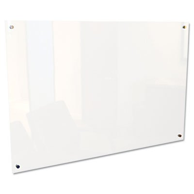 Enlighten Glass Board, Frameless, Frosted Pearl, 72'' x 48'' x 1/8, Sold as 1 Each