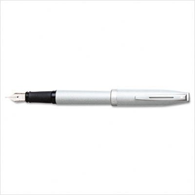 Sheaffer Javelin Argent Silver Medium Point Fountain Pen - - Javelin Sheaffer