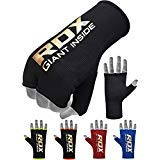 RDX Boxing Hand Wraps Inner Gloves for Punching - Half Finger Elasticated Bandages Under Mitts Fist Protection - Great for MMA, Muay Thai, Kickboxing, Martial Arts Training & Combat Sports