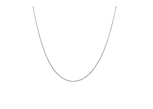 (14K Gold 0.75MM Thin Rope Chain Necklace- Available in Yellow, White or Rose-14