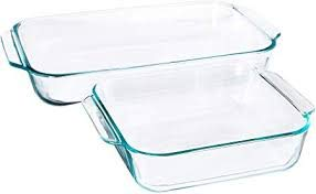 Pyrex Basics Clear Glass Baking Dishes - 2 Piece