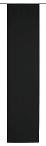 Schiebegardine Seidenglanz halbtransparent ca. 58x245 cm Flächenvorhang Vorhang Gardine #1318 (schwarz)