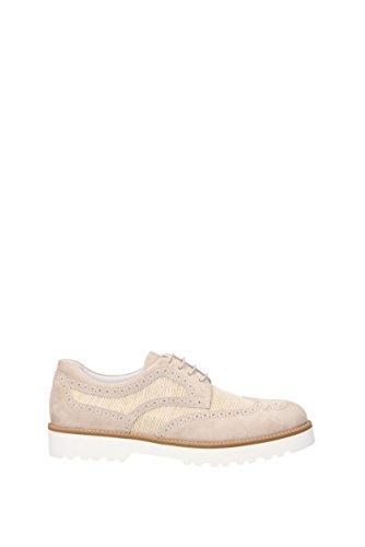 Hogan de para ante cordones de Zapatos Beige mujer wwqrU185x