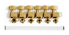 Fender American Series Stratocaster Guitar Tuners with Gold Hardware Set of 6 Gold