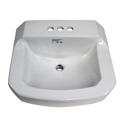 proflo pf5414 19 78 wall mounted rectangular bathroom sink 3 holes - Wall Mounted Bathroom Sink