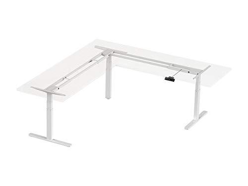 Monoprice 134828 Triple Motor Height Adjustable Sit-Stand Corner Desk Frame - White | 3 Leg Corner, L Shaped Table Base, Programmable Memory Settings