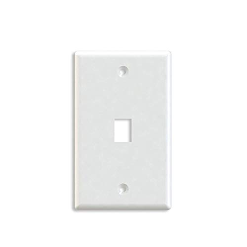 - Maxmoral 5-Pack 1-Port Wall Plate Keystone Jack with Screw - White