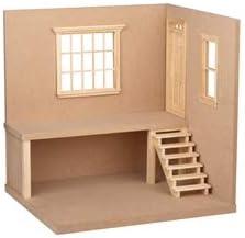 Dollhouse Miniature The Corner Place Kit / Dollhouse Miniature The Corner Place Kit