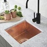 Native Trails CPS434 Catina Copper Under mount Bar/Prep Sink Polished