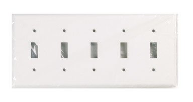 Cooper Wiring 5G White Toggle Switch Plate 2155W-BOX