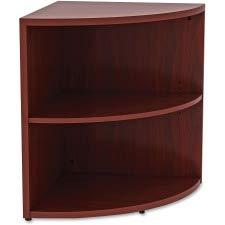 Corner Lorell - Lorell 2 Shelf Corner Bookcase in Mahogany