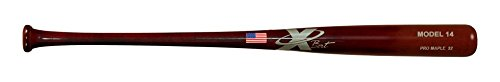 X Bats - Pro Model 14 - 33 Inch Wood Baseball Bat - Maple - Mahogany Finish - BBCOR Certified - (T141 Equivalent)