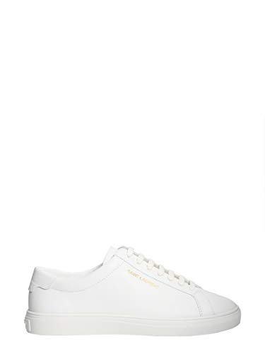 Femme Baskets Blanc Saint Laurent Cuir 5337260m5009030 Awq4T7