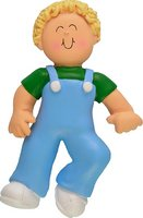 2161 Blonde Boy First Step Personalized Christmas - As 2161